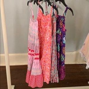 Sz 3T set of 4 maxi style dresses - EUC!
